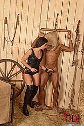 Dominatrix Controls 2 Slaves
