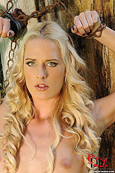Blonde Chained To A Tree Pees