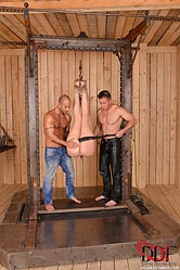 Bound Babe DP'd by 2 Masters
