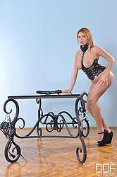 Marina Visconti Gapes her Ass