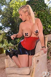Lilith. Curvy mistress got a red toy