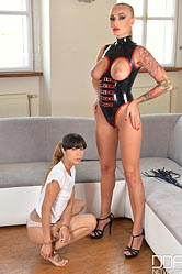 Hungarian dominatrix spanking and flogging russian compliant.